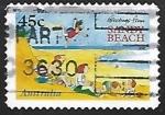 Sellos de Oceania - Australia -  Sandy Beach