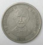 monedas de America - Rep Dominicana -  1976- 25 centimos