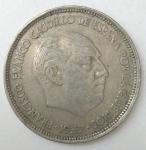 monedas de Europa - España -  1957 - 25 pesetas