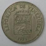 monedas de America - Venezuela -  1971- 5 centavos