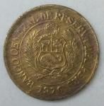monedas de America - Perú -  1976 - 1/2 sol de oro