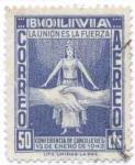 Stamps America - Bolivia -  Conmemoracion a la conferencia de cancilleres realizada en Rio de Janeiro
