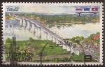 Stamps : Asia : Thailand :  Inauguración del Puente de la Amistad  1994  9 Baht
