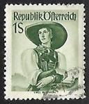 Stamps Austria -  Trajes tipicos - Tyrol
