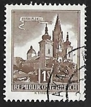 Stamps Austria -  Basilica of Mariazell