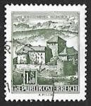 Sellos de Europa - Austria -  Schattenburg , Feldkirch
