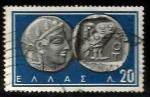Sellos de Europa - Grecia -  Athena and Owl, Athens, 5th cent. B.C.