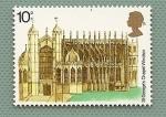 Stamps United Kingdom -  Capilla de San Jorge en el castillo de Windsord