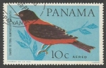 Sellos de America - Panamá -  Crimson-backed Tanager (Ramphocelus dimidiatus) (1965)