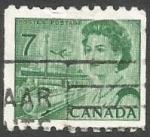 Stamps : America : Canada :  Queen Elizabeth II, transport