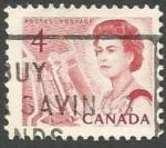 Sellos del Mundo : America : Canadá : Queen Elizabeth II, ship in lock in the St. Lawrence Seaway