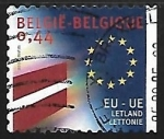 Stamps : Europe : Belgium :  Union Europea - Letonia