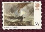 Sellos de Europa - Reino Unido -  Pintura - Turner - vapor fuera del puerto en la tormenta