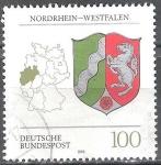 Sellos de Europa - Alemania -  Escudo de armas de los estados federales( Nordrhein-Westfalen).