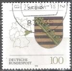 Sellos de Europa - Alemania -  Escudo de armas de los estados federales(Sajonia).