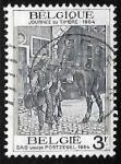 Sellos de Europa - Bélgica -  Dia del sello - cartero