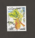 Stamps : Asia : Afghanistan :  Flor Cymbidiella