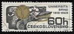 Sellos de Europa - Checoslovaquia -  univerzita brno 1919 - 1969