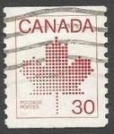 Sellos del Mundo : America : Canadá : Canadian Maple Leaf Emblem (1982)