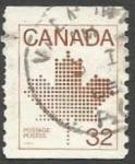 Sellos del Mundo : America : Canadá :  Canadian Maple Leaf Emblem (1983)