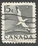 Sellos del Mundo : America : Canadá : Northern Gannet (1954)