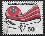 Sellos de Europa - Checoslovaquia -  Stylized aircraft and logo