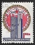 Sellos de Europa - Checoslovaquia -  25th anniversary of the COMECON