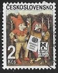 Stamps Czechoslovakia -  XIII bienal de ilustración bratislava - Dibujos infantiles