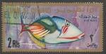 Sellos del Mundo : Asia : Emiratos_Árabes_Unidos : Umm Al Qiwain - Rhinecanthus aculeatus (1967)