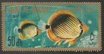 Sellos del Mundo : Asia : Emiratos_Árabes_Unidos : Umm Al Qiwain - Chaetodon melanotus (1967)