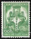 Stamps Czechoslovakia -  3rd Five-Year Plan