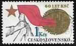 Sellos del Mundo : Europa : Checoslovaquia :  Czechoslovakian Communist Party, 60th Anniv.