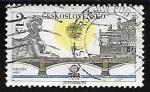 Stamps Czechoslovakia -  Manes bridge - Puente de Manes