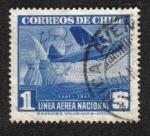Sellos del Mundo : America : Chile :  Avión y Caravela