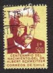 Sellos del Mundo : America : Chile : Dr. Albert Schweitzer, Misionero Médico, Centenario de Nacimiento