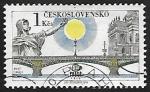 Stamps Czechoslovakia -  Bridge of May 1st - Puente 1º de Mayo