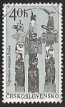 Stamps Czechoslovakia -  Museo Nacional de Praga -tótem