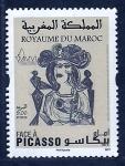 sello : Africa : Marruecos : Pintura  (PICASSO)