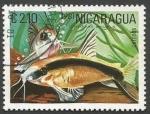 Sellos del Mundo : America : Nicaragua : Skunk Corydoras Catfish (Corydoras arcuatus) (1981)