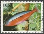 Sellos del Mundo : America : Nicaragua : Cardinal Tetra (Cheirodon axelrodi) (1981)