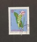 Sellos del Mundo : Asia : Vietnam : Flor Curcuma