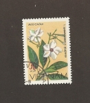 Sellos del Mundo : Asia : Vietnam : Flor Cerbera