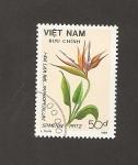 Sellos del Mundo : Asia : Vietnam : Flor Paphipedilum