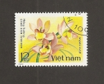 Sellos del Mundo : Asia : Vietnam : Flor Cymbidium