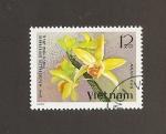 Sellos del Mundo : Asia : Vietnam : Flor Dedrobium