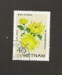 Sellos del Mundo : Asia : Vietnam : Flor Chrysanthemum