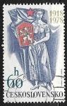 Stamps Czechoslovakia -  60 aniversario de la Independencia