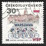 Sellos de Europa - Checoslovaquia -  30th Intl. Bicycle Peace Race Warsaw-Berlin-Prague