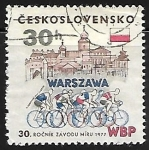Sellos de Europa - Checoslovaquia -  30th Intl. Bicycle Peace Race Warsaw-Berlin-Prague