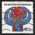 Stamps Czechoslovakia -  50 aniversario del Partido Comunista Checo